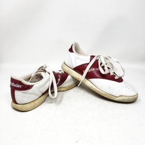 VINTAGE REEBOK Red White Low Top Sneakers Shoes
